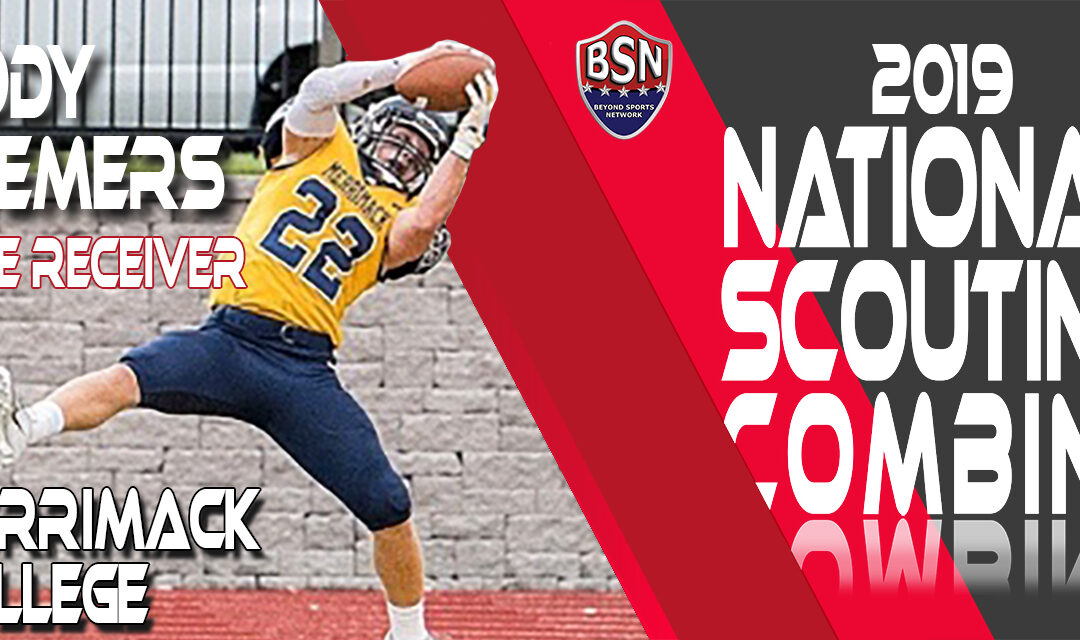 2019 National Scouting Combine prospect Cody Demers, Receiver from Merrimack College