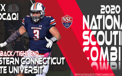 2020 National Scouting Combine Prospect Alex Kocaqi, FB/TE from Western Connecticut State University