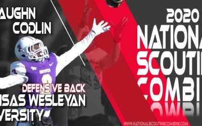 2020 National Scouting Combine Prospect Jevaughn Codlin, DB from Kansas Wesleyan University