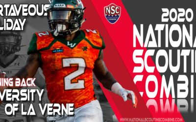 2020 National Scouting Combine Prospect Martaveous Holliday, RB/KR from University of La Verne