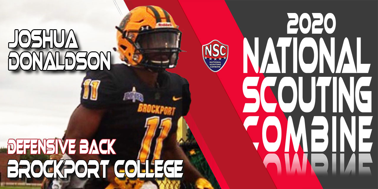 2020 National Scouting Combine Prospect Joshua Donaldson, DB from Brockport College
