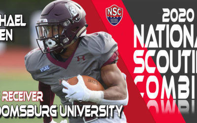 2020 National Scouting Combine Prospect Michael Allen, WR from Bloomsburg University
