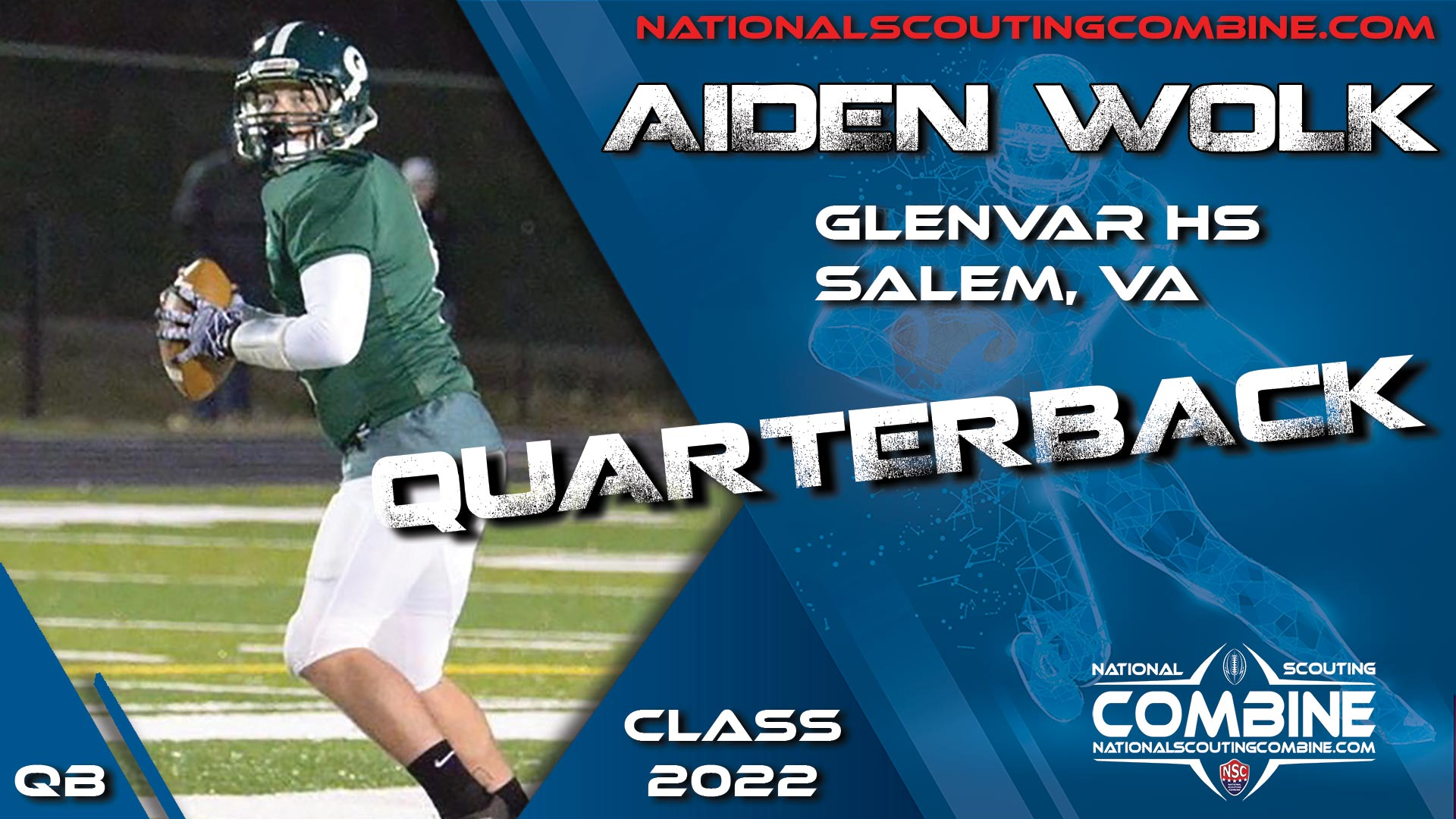 National Scouting Combine Prospect Aiden Wolk, QB from Glenvar High School