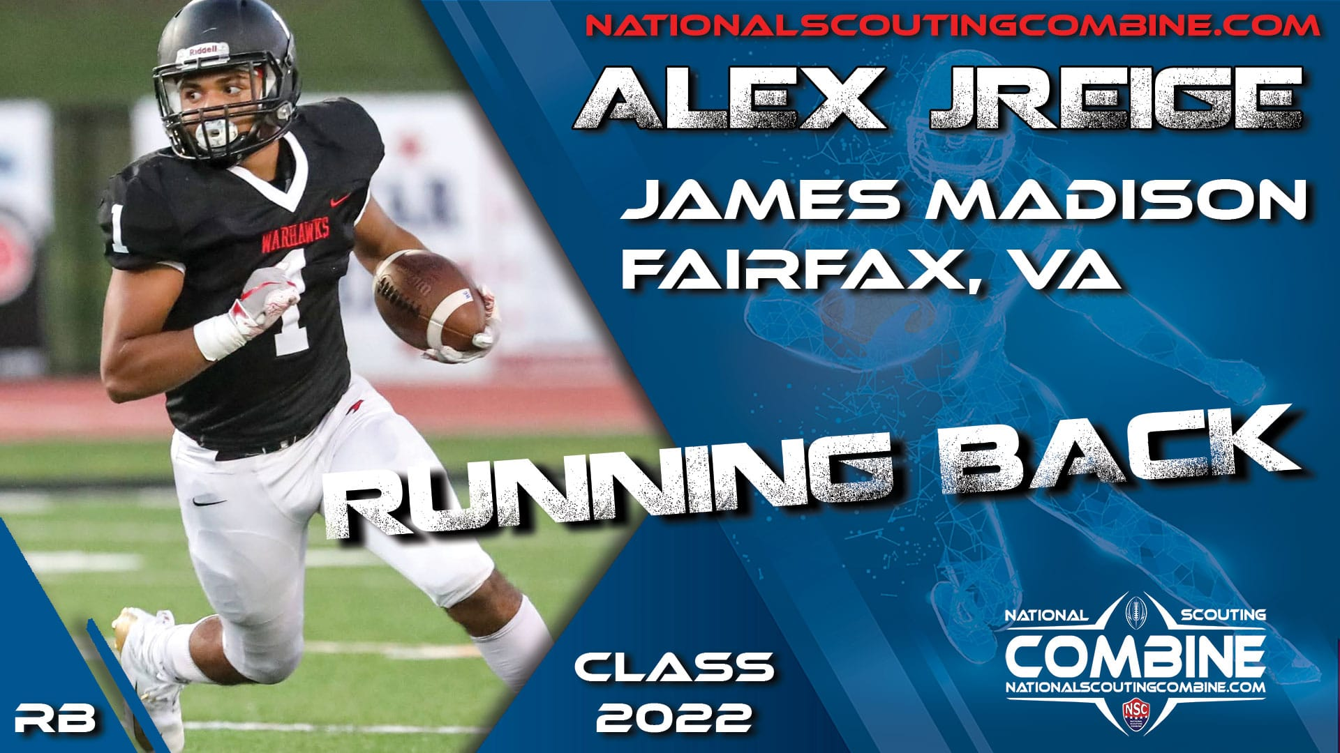 National Scouting Combine Prospect Alex Jreige, RB from James Madison High School