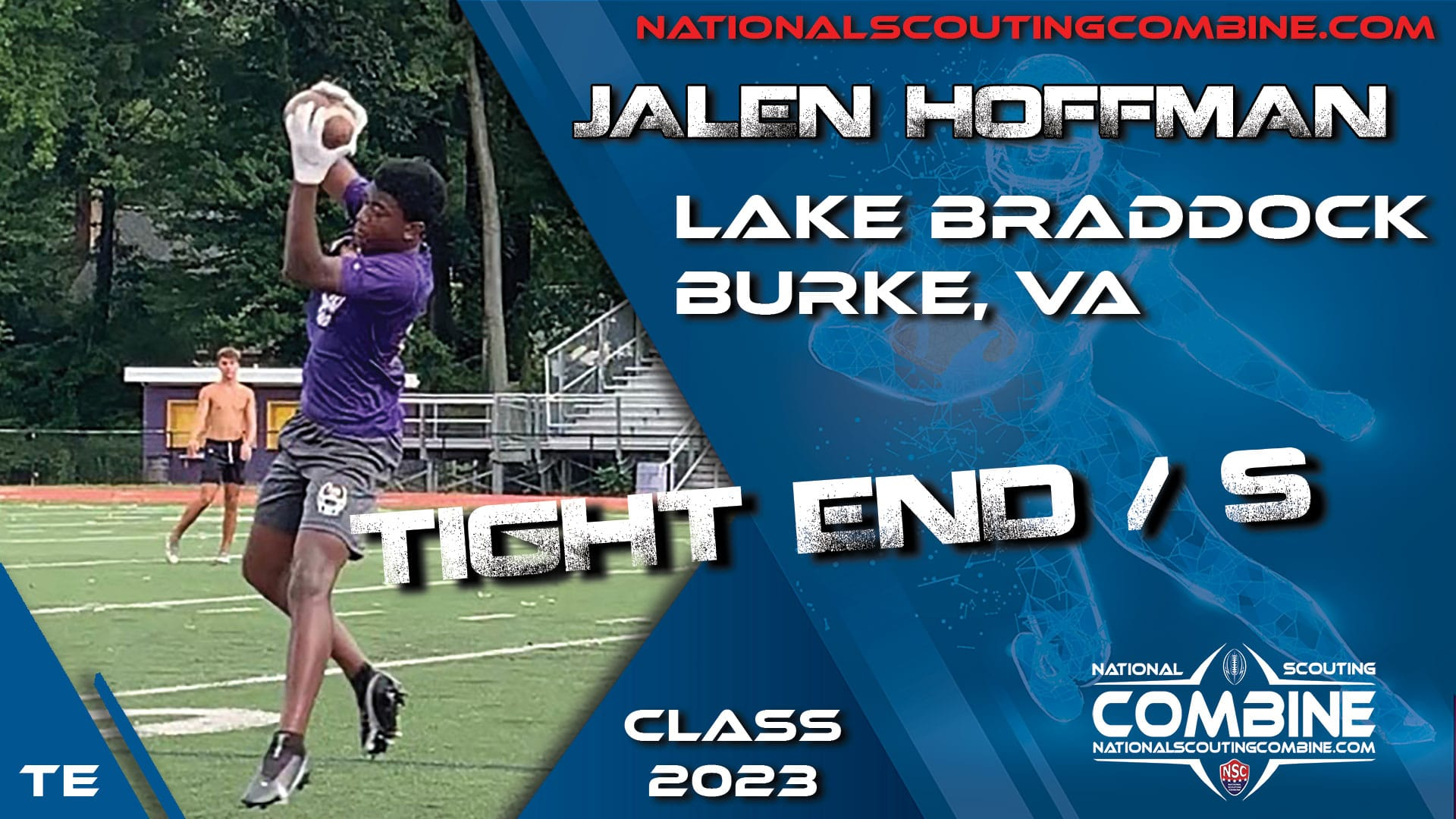 National Scouting Combine Prospect Jalen Hoffman, TE/S from Lake Braddock Secondary School