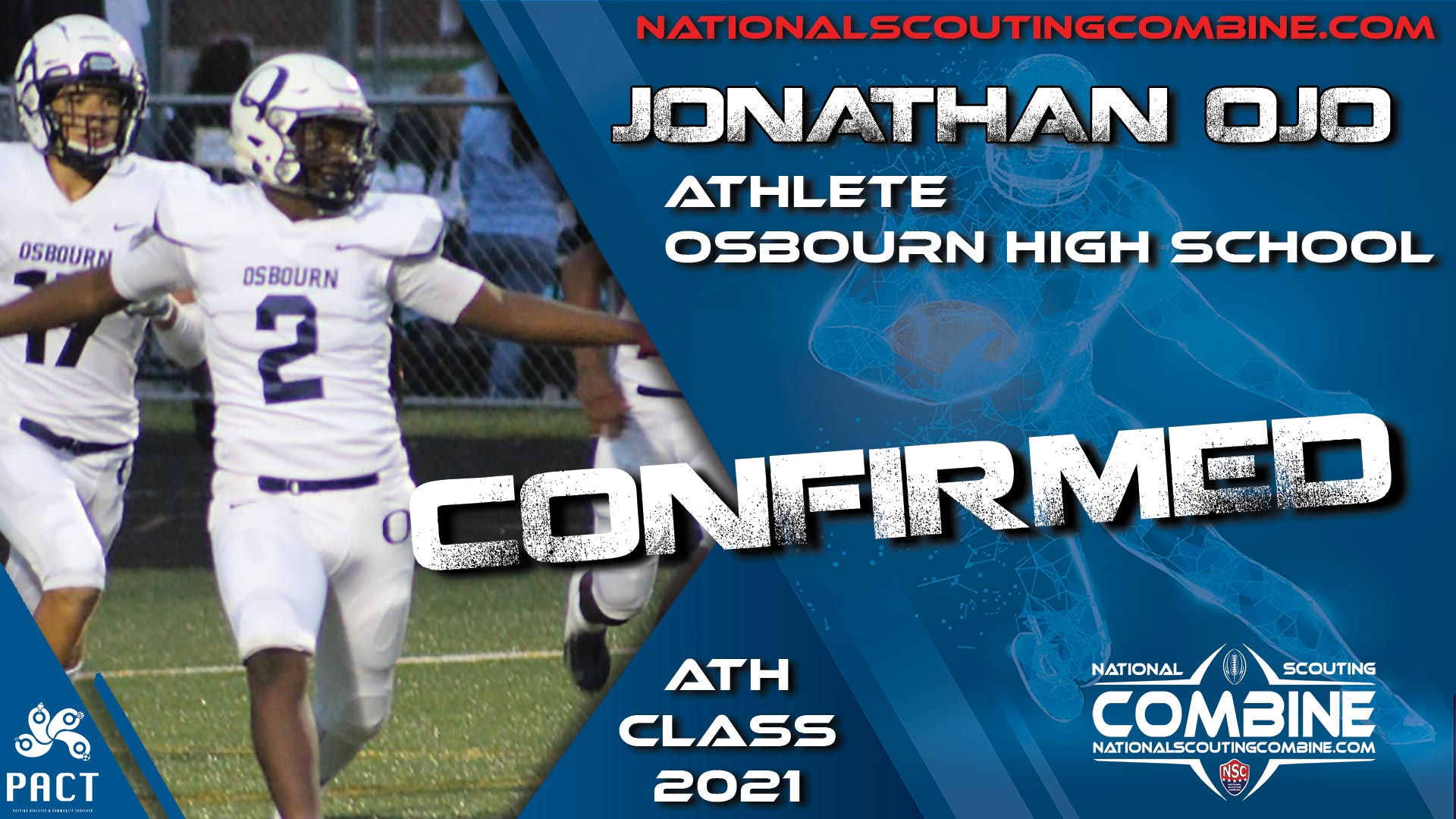 National Scouting Combine 2021 Prospect Jonathan Ojo, ATH from Osbourn High School