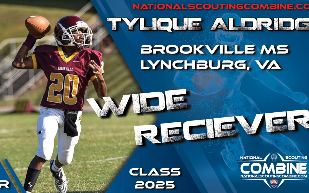 National Scouting Combine Prospect Tylique Aldridge, WR from Brookville Middle School
