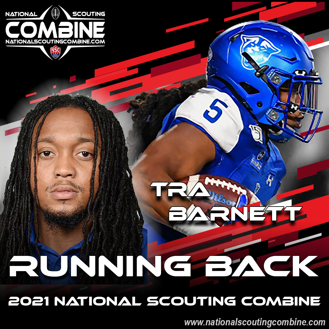 2021 National Scouting Combine Featured Athlete Tra Barnett, RB from Georgia State