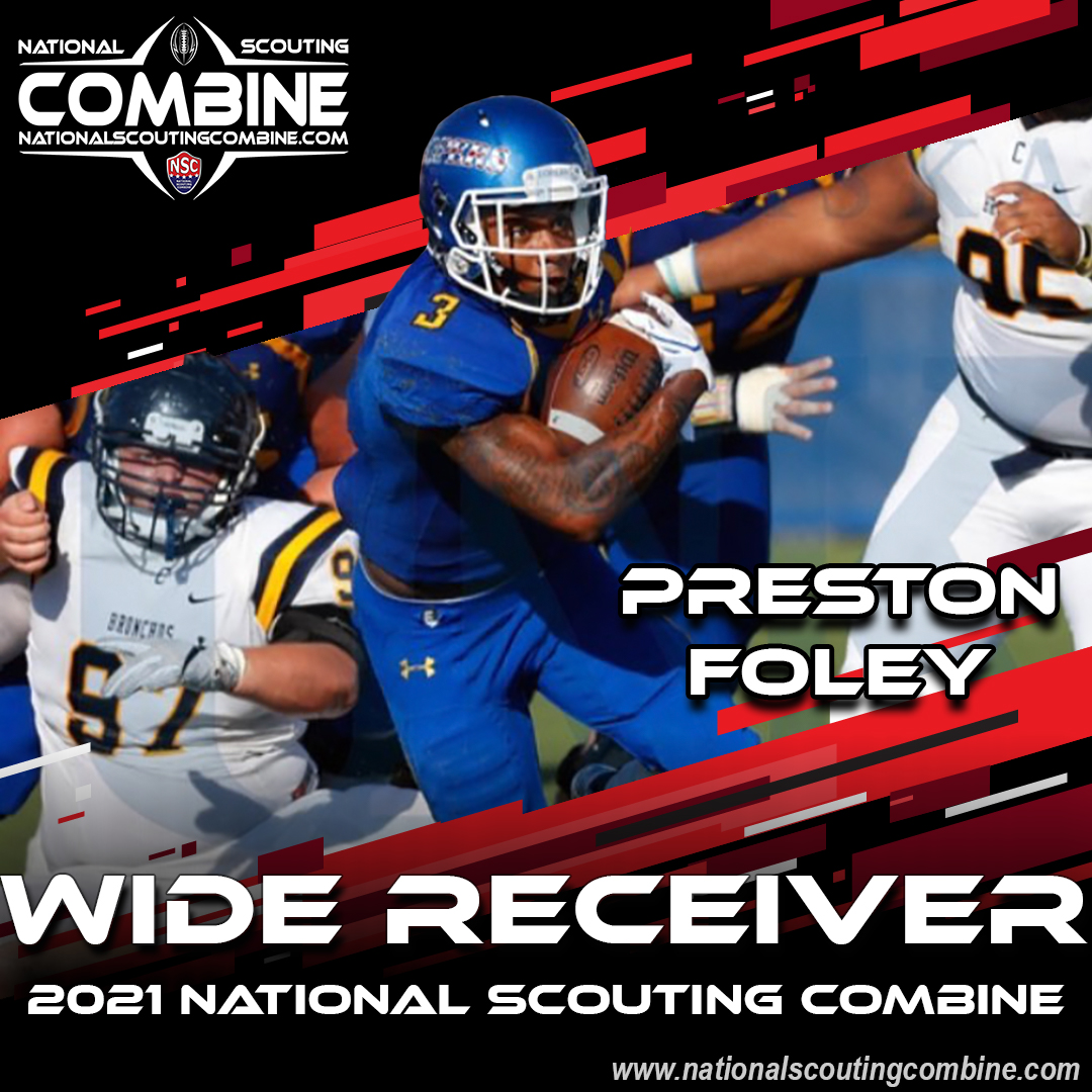 2021 National Scouting Combine Featured Athlete Preston Foley, WR from the University of Nebraska Kearny